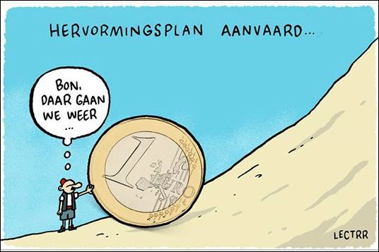 Cartoon Griekse crisis